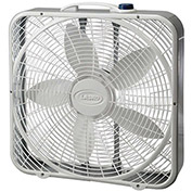 "Lasko 3723 20"" Premium Box Fan with Wind Ring®, 3-Speed, 110V, Gray"