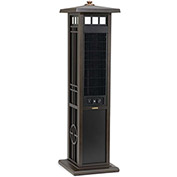 """Lasko 4890 50"""" Elegant Outdoor Tower Fan with Remote Control, 3-Speed, 110V, Brown"""