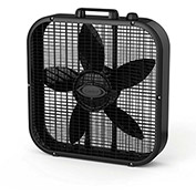 "Lasko B20401 Decor Colors 20"" Box Fan with Save-Smart™, 3-Speed, 110V, Black"