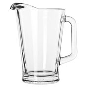 Libbey Glass 5260 Glass Pitcher 60 Oz., Clear, 6 Pack