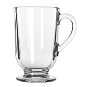 Libbey Glass 5304 - Glass Coffee Mug Irish Clear 10.5 Oz., 12 Pack