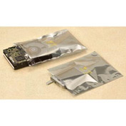 Static Shielding  Layflat Bags, 4X6, 100 per Case, Transparent Metallic