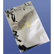 Static Shielding Reclosable Bags, 4X6, 100 per Case, Transparent Metallic