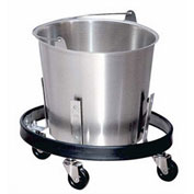 Lakeside® Heavy Duty 13-Quart Stainless Steel Kick Bucket With Frame