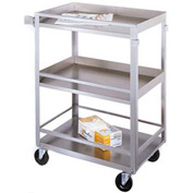 Lakeside® 316 Guard Rail Stainless Steel Cart 27-1/2 x 16-1/4 x 33-3/8 300 Lb Cap