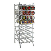 Lakeside® 331 Aluminum Stationary Can Rack - 108(#10 Cans), 144(#5 cans)
