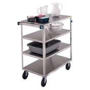 Lakeside® 353 Medium Duty Stainless Steel 4 Flush Shelf Cart 500 Lb Cap