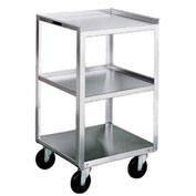 Lakeside® 469 Stainless Steel Mobile Equipment Stand, 3 Shelves, 500 lb. Capacity