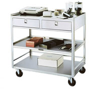 Lakeside® 474 Stainless Steel Equipment Stand, 3 Shelves, 2 Drawers, 500 lbs Capacity