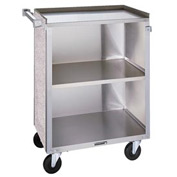 "Lakeside& 610BL - 3 Shelf Bussing Cart - 27-3/4"" x 16-1/2"", Black"