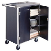 Lakeside® 615BL 4 Shelf Sd Bussing Cart - 27-3/4X16-1/2 Black