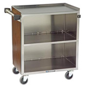 Lakeside® 622BL 3 Shelf Md Bussing Cart - 30-3/4X19 Black