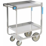 Lakeside® 725 Guard Rail Stainless 2 Shelf Cart 32 x 19 x 34 700 Lb Cap