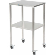 "Lakeside® 8353 Stainless Steel Instrument Table with Shelf - 20""L x 16""W x 34""H"