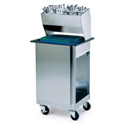 Lakeside® 986, Tray And Silver Cart W/ Brakes