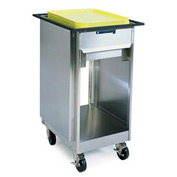 """Lakeside® 996, Open Mobile Tray And Glass Dispenser - 19"""" X 23"""""""