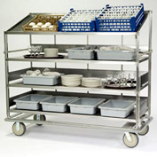 Lakeside® B599 Soiled Dish Sorting Cart - 4 Flat 1 Angled