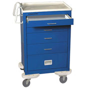 Lakeside® C-530-P2K-1B Classic 5-Drawer Medical Anesthesia Cart, Blue, Key Lock