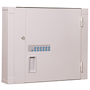 """Lakeside® High Security Narcotic Cabinet with Proxy Reader, 22""""W x 4-1/2""""D x 18""""H, Beige"""