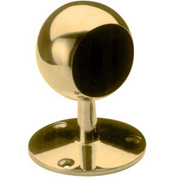 """Lavi Industries, Ball End Post, for 2"""" Tubing, Polished Brass"""