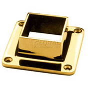 "Lavi Industries, Flange, Square, for 1.5"" Tubing, Polished Brass"