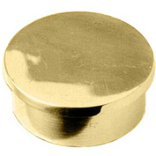 """Lavi Industries, End Cap, Flush, for 2"""" Tubing, Polished Brass"""