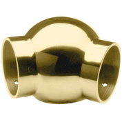 """Lavi Industries, Ball Elbow, 135 Degree, for 1.5"""" Tubing, Polished Brass"""