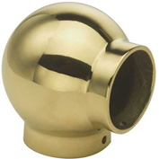 """Lavi Industries, Ball Elbow, for 1.5"""" Tubing, Polished Brass"""