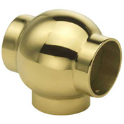 """Lavi Industries, Ball Tee, for 1.5"""" Tubing, Polished Brass"""