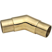 """Lavi Industries, Flush Angle Fitting, 135 Degree, for 1.5"""" Tubing, Polished Brass"""