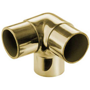 """Lavi Industries, Flush Elbow Fitting, Side Outlet, for 1.5"""" Tubing, Polished Brass"""