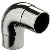 """Lavi Industries, Flush Elbow Fitting, Radius, for 1.5"""" Tubing, Polished Stainless Steel"""