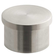 "Lavi Industries, End Cap, Flush, for 1"" Tubing, Satin Stainless Steel"