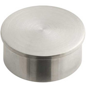"Lavi Industries, End Cap, Flush, for 2"" Tubing, Satin Stainless Steel"