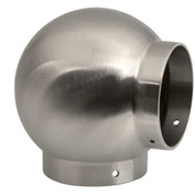 """Lavi Industries, Ball Elbow, for 1.5"""" Tubing, Satin Stainless Steel"""