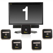 "Qtrac® Plug and Play, 22"" LCD Black & White Display, 5 Remotes"