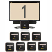 "QtracCF® Plug and Play, 32"" LCD Beige & Gray Display, 8 Remotes"