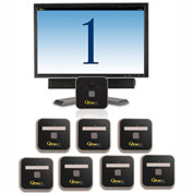 "QtracCF® Plug and Play, 32"" LCD Cool Blue Display, 8 Remotes"