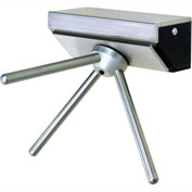 Tensabarrier 3-Arm Stainless Steel Wall Mounted Turnstile, Left Hand Rotation-W/Counter/Register