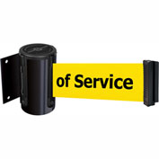 Tensabarrier Black Mini Wall Mount 7.5'L BLK/YLW Out of Service Retractable Belt Barrier