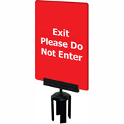 "Tensabarrier Red 7""x11"" 1/4"" Thick Acrylic Sign - Exit Please Do Not Enter"