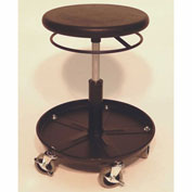 "ShopSol Round Welding Stool with Tray - 15.5"" to 20.5""H Adjustment"