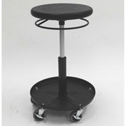 "ShopSol Round Welding Stool with Tray - 19.5"" to 26.5""H Adjustment"