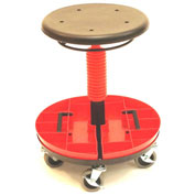 "ShopSol Scooter Stool with Removable Tray - Height Adjustable 15-1/2"" x 20-1/4"""
