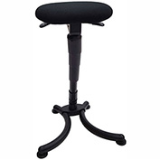 ShopSol Sit Stand Office Stool - Fabric - Black