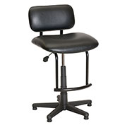 ShopSol Big and Tall Workbench Chair - Vinyl - Black