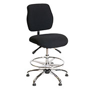 ShopSol ESD Office Chair - Medium Height - Deluxe Fabric - Black