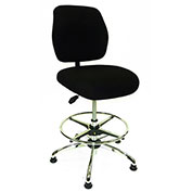 ShopSol ESD Office Chair - Medium Height - Economy Fabric - Black