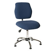 ShopSol ESD Office Chair - Low Height - Economy Fabric - Blue