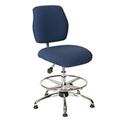 ShopSol ESD Office Chair - High Height - Economy Fabric - Blue